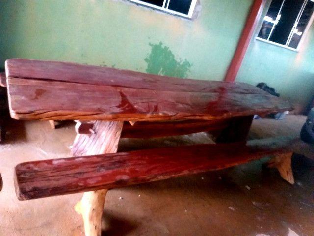 Mesa madeira rústica aroeira  - Foto 2