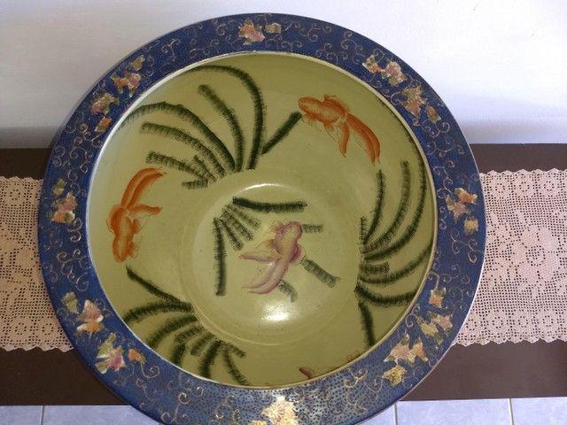 vaso aquário de porcelana chinesa antigo século XIX - Foto 2