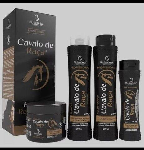 Kit Cavalo de Raça - 4 Itens - Shampoo + Condic. + Creme + Máscara - Bio Instinto - Foto 2