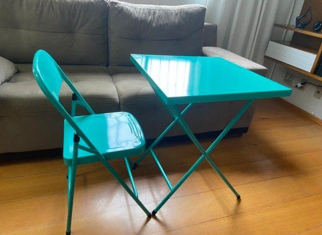 Mesa com cadeira de aço - Foto 3