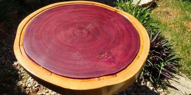 Tábua para churrasco e frios em madeira Roxinho - Foto 3