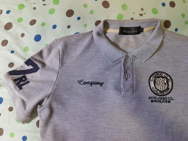 Camisa Polo Cinza P - Foto 2