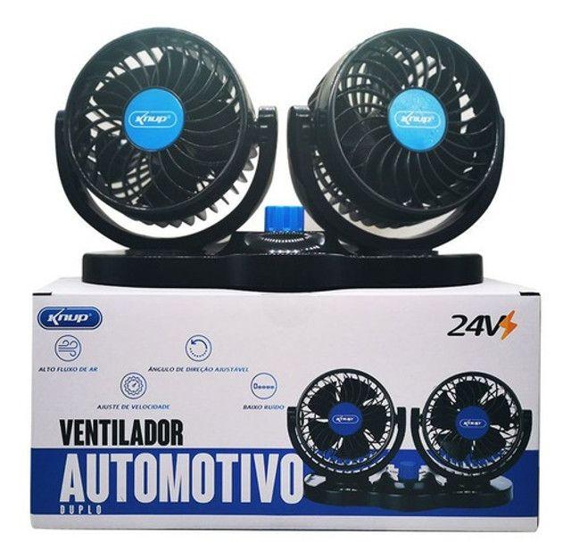 Ventilador Portátil Automotivo Carro Caminhão 24v Potente