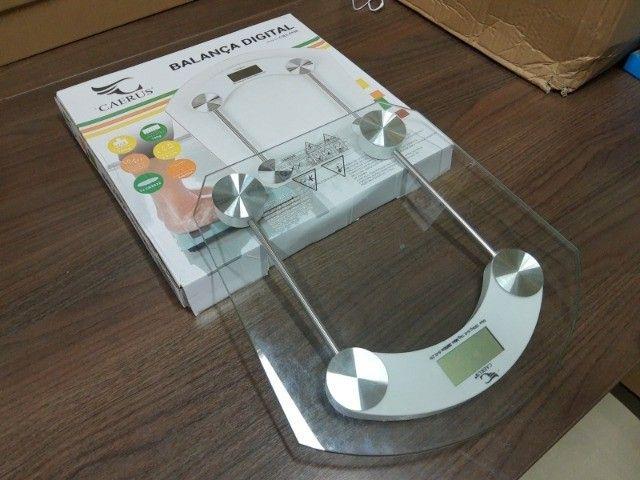 Balança Digital 180kg Eletrônica Lcd Em Vidro Temperado Para Banheiro Academia - Foto 2