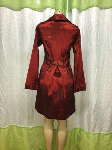 Luxuoso casaco vermelho  - Foto 4