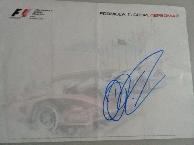Autógrafo do piloto da Fórmula-1 Daniel Ricciardo - Foto 2