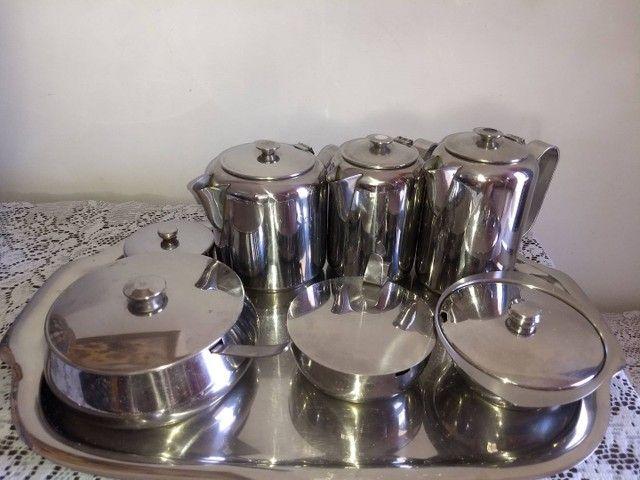conjunto de café em aço inoxidável marca meridional completo - Foto 2