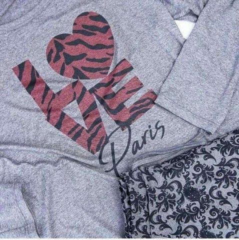 Pijamas Aime novos molicoton suedine presente dia das mães - Foto 2