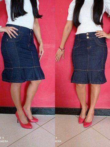Kit 10 saias Jeans Evangélica direto da fábrica para vender - Foto 4