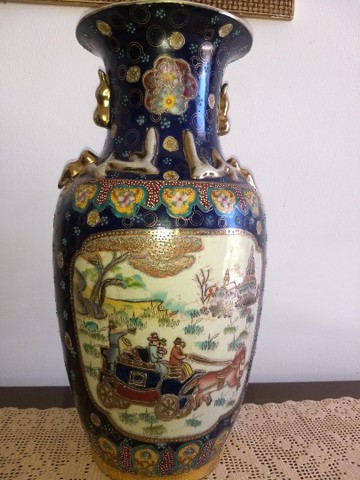 vaso de porcelana chinesa antigo inicio do século XIX