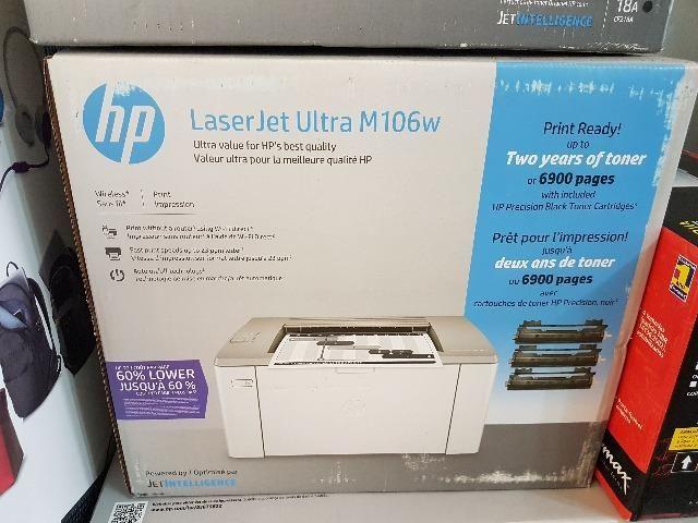 Impressora HP LaserJet Ultra M106w Wifi + 3 toners - Foto 2