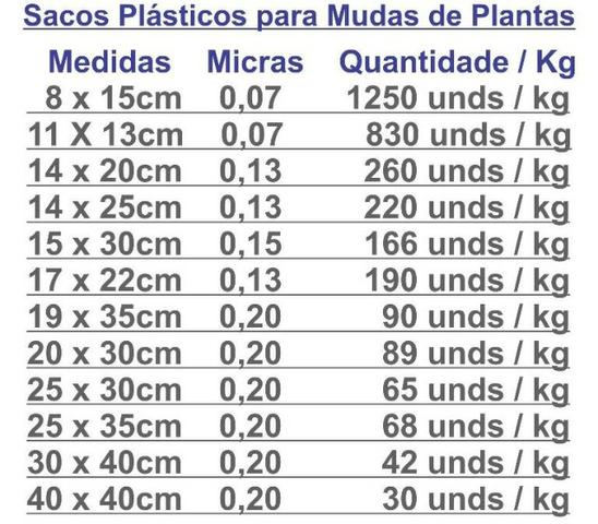 Saco Plástico Para Mudas De Plantas - Foto 4