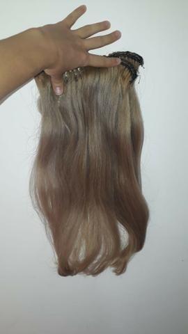 Cabelo humano em mega hair tic tac