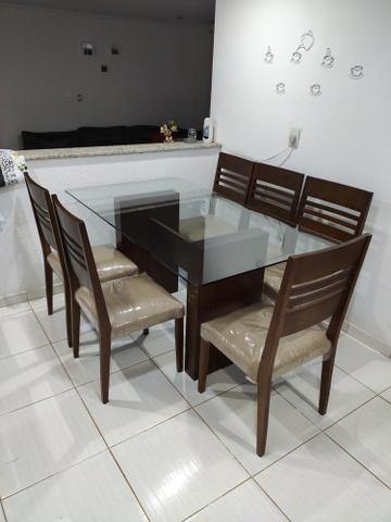 Mesa com 6 cadeiras 1,60x0,90 - Foto 3