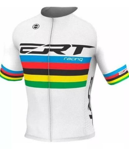 Camisa De Ciclismo Elite Ert Racing Campeão Mundial Preta / Branca