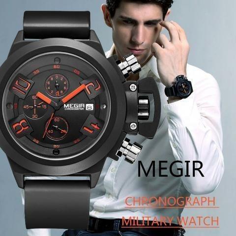 b4808251c5a Relogio Megir Luxo Multificional Original Sport - Bijouterias ...