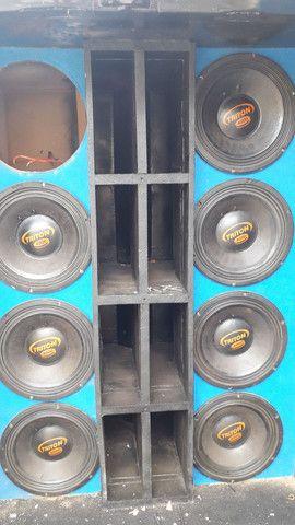 """Alto falantes Triton 12"""" de 4000 Rms cada - Foto 6"""