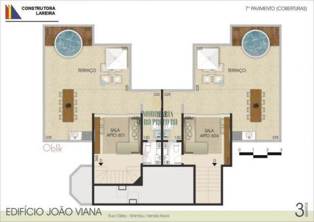 Apartamento à venda com 3 dormitórios em Sinimbu, Belo horizonte cod:3625 - Foto 5