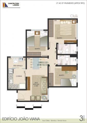 Apartamento à venda com 3 dormitórios em Sinimbu, Belo horizonte cod:3625 - Foto 7