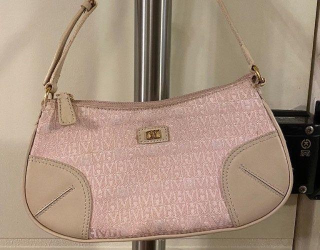 Mini bolsa monograma victor hugo rosa