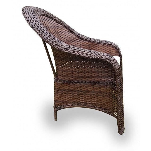 Conjunto De Cadeiras Fibra Sintética Externo Vime Junco - Foto 2