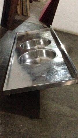 Pia de cozinha com duas cubas - Foto 5