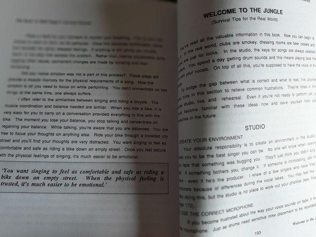 Livro Rock-n-Roll Singer's Manual Survival - Foto 3