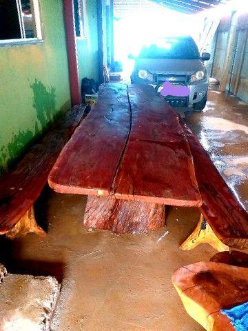 Mesa madeira rústica aroeira