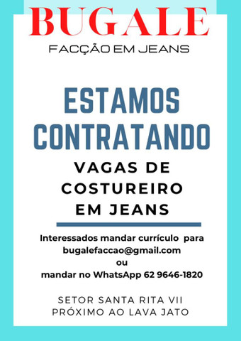CONTRATA-SE COSTUREIRO