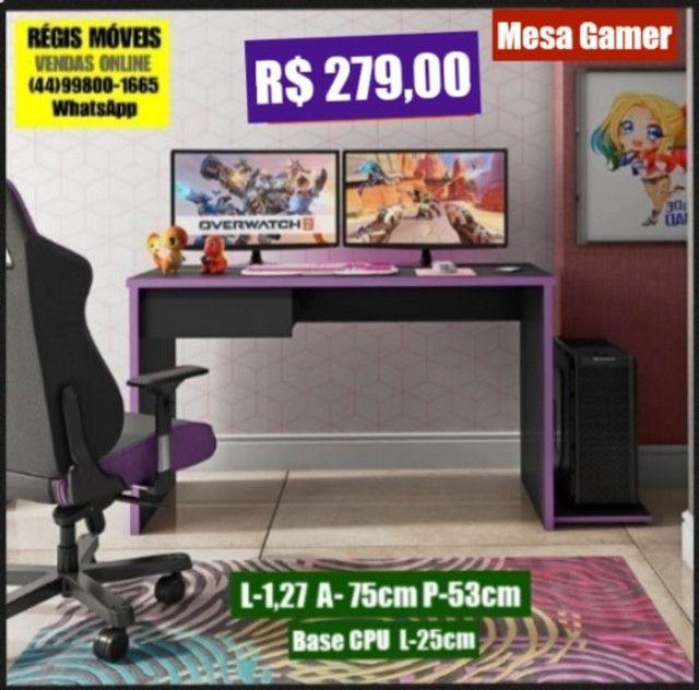 Mesa Escritorio Games Tampo e Laterais em 25mm Nova - Foto 4
