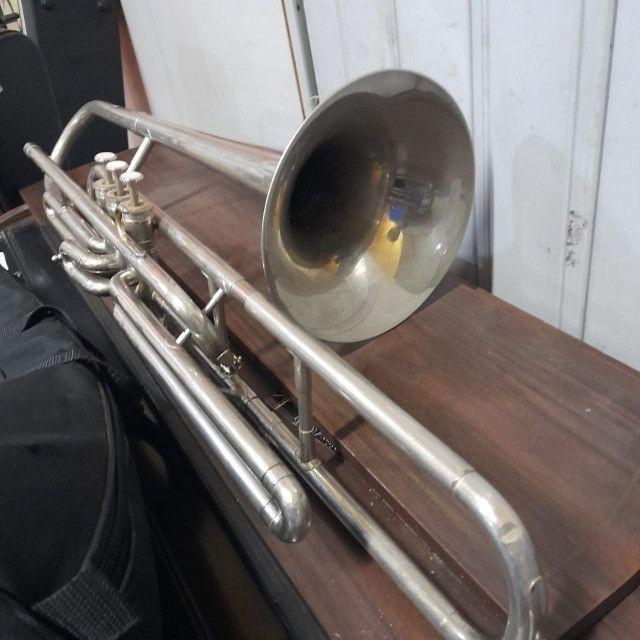Trombone De Pisto Weril Antigo Revisado Na Musical Brother - Foto 3