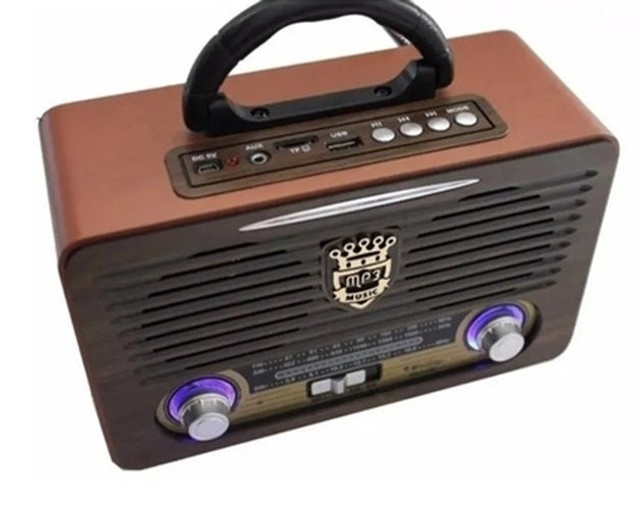 Radio Analógico Retro Portátil Recarreg Bluetooth Fm Pendriv - Foto 2