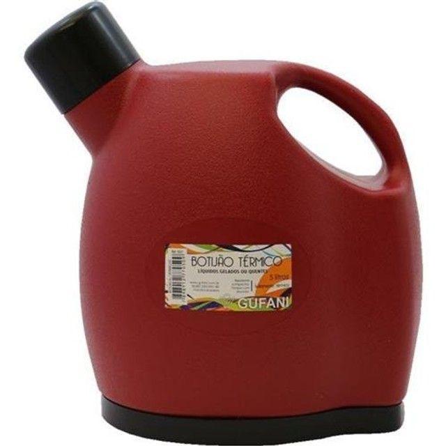 oferta promoção garrafa térmica 5 litros galão botijão gufani vermelha