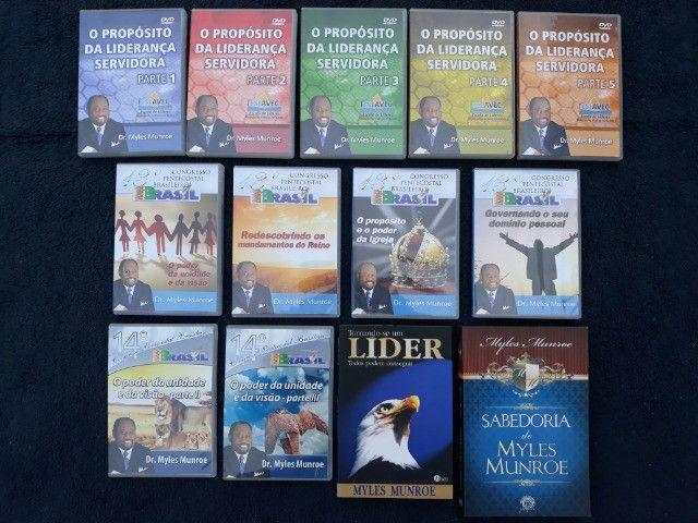 Coleção com 11 DVDs + 2 Livros Pastor Myles Munroe
