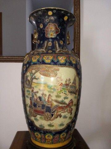vaso de porcelana chinesa antigo inicio do século XIX - Foto 6