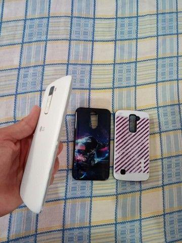 Vendo LG K10 branco com TV - Foto 5