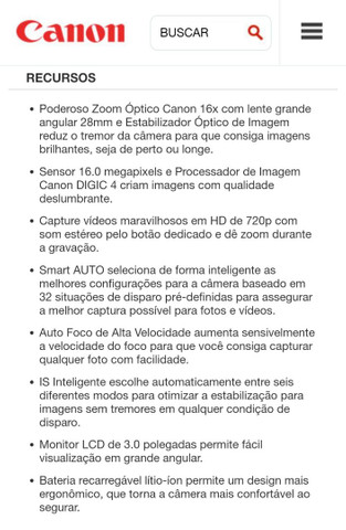 Câmera digital Canon - Foto 6