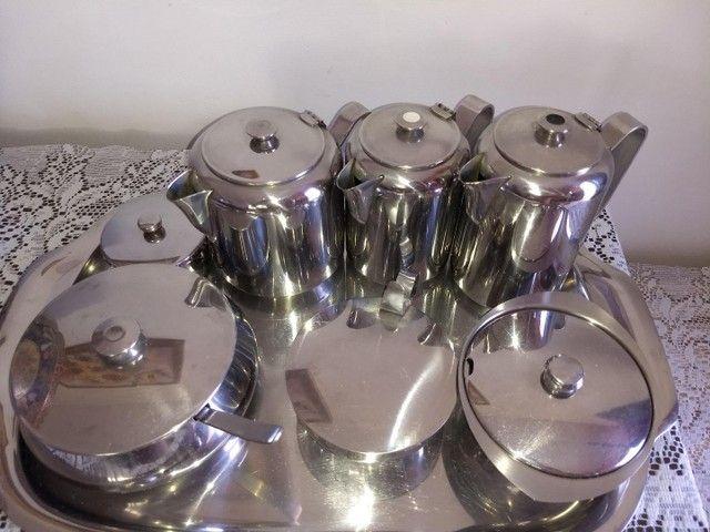 conjunto de café em aço inoxidável marca meridional completo - Foto 3