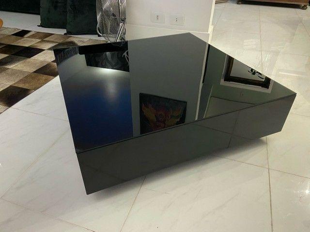 Mesa de centro Tok Stok Laqueada c tampo de vidro - Foto 5