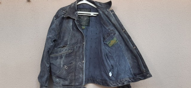 Jaqueta masculina de lona