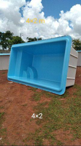 piscinas de fibra Bsb 4,00×2,00/ 1,20 profundidade  - Foto 2