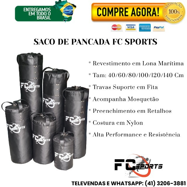 Saco de Pancada Profissional FC Sports