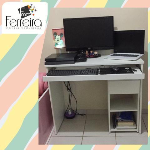 27. Promoção Mesa Escrivaninha 90cm - Entrega Grátis toda Manaus :) - Foto 5