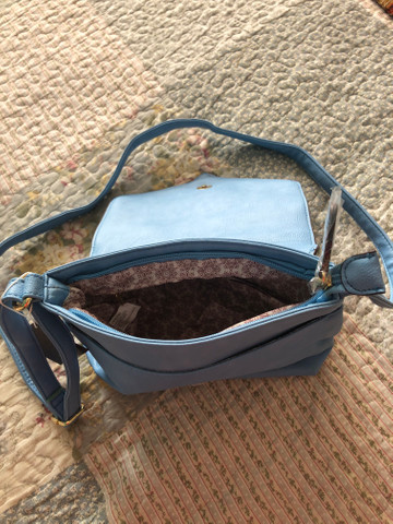 Bolsa transversal azul pastel Chenson - Foto 3