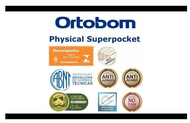 Colchão Ortobom Physical Superpocket (88x188x24) - Solteiro - Foto 3