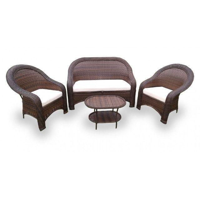 Conjunto De Cadeiras Fibra Sintética Externo Vime Junco - Foto 3