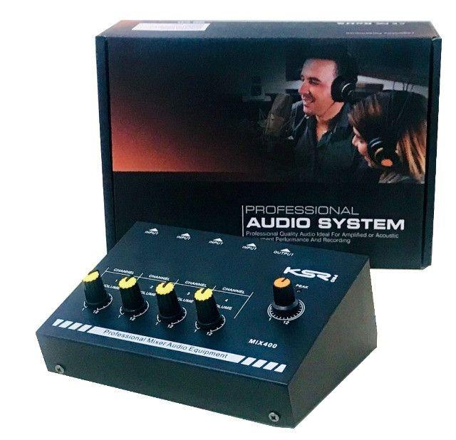 Mesa De Som 4 Canais Mix400 Mini Mixer Bateria,gravação,estúdios,home-audio,som automotivo
