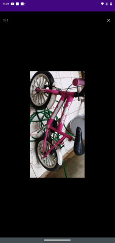 bicicleta para criança conservada vendendo pq tá parada aqui  - Foto 2