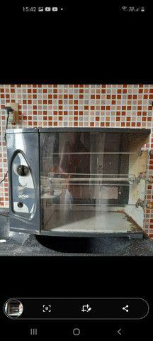 Churrasqueira à gás automática 3 espetos - Foto 4