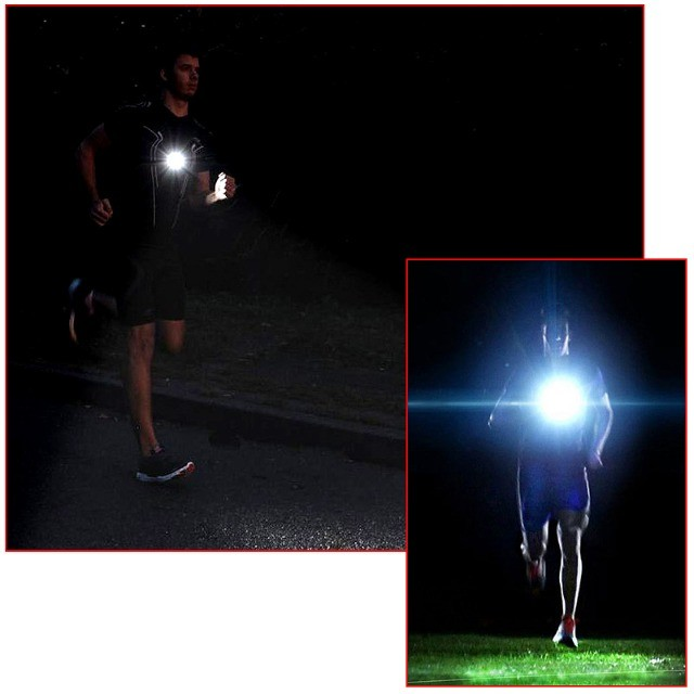 Lanterna de peito para a prática de corrida noturna (night run) Light running - Foto 6